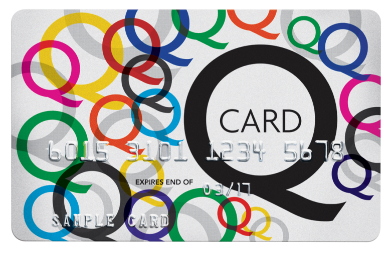 Q Card : 6015 3101 1234 5678 : EXPIRES END OF 03/17 : SAMPLE CARD